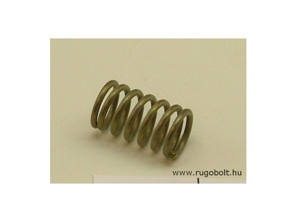 Nyomórugó - 1,2x9,5x15 mm - menetszám: 1+5+1 - rozsdamentes (inox)
