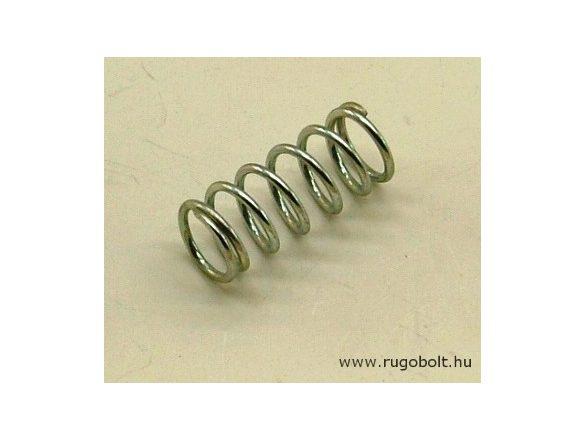 Nyomórugó - 1,2x11x25 mm - menetszám: 1+5+1 - horganyzott