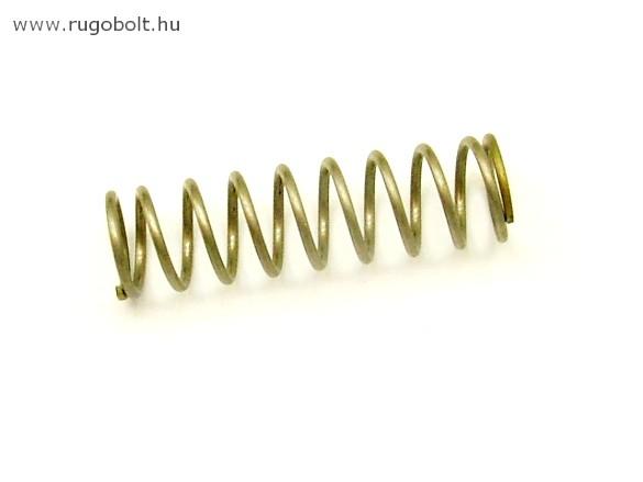 Nyomórugó - 1,4x14x48 mm - menetszám: 1+8+1 - rozsdamentes (inox)