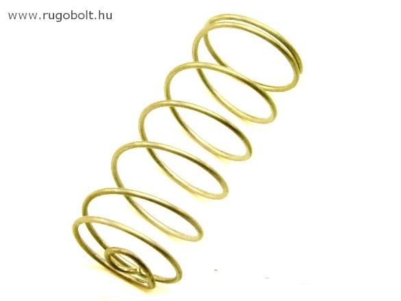 Nyomórugó - 1,4x25x60 mm - menetszám: 1+5+1 - rozsdamentes (inox)