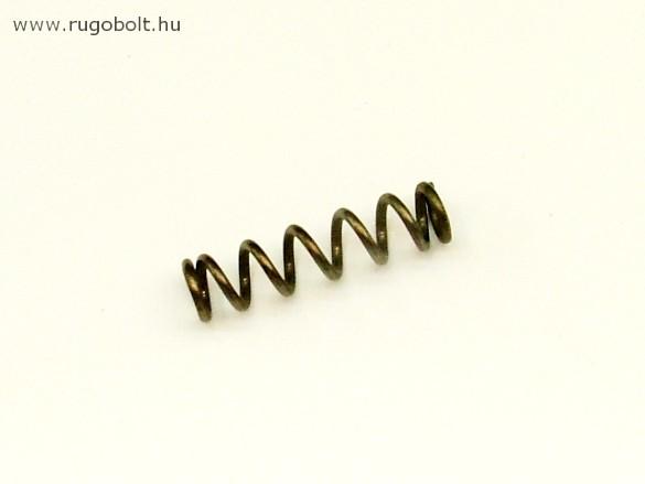 Nyomórugó - 1,5x85x35 mm - menetszám: 1+5+1 - natúr