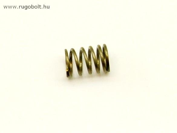 Nyomórugó - 1,5x13x19 mm - menetszám: 1+4,5+1 - rozsdamentes (inox)