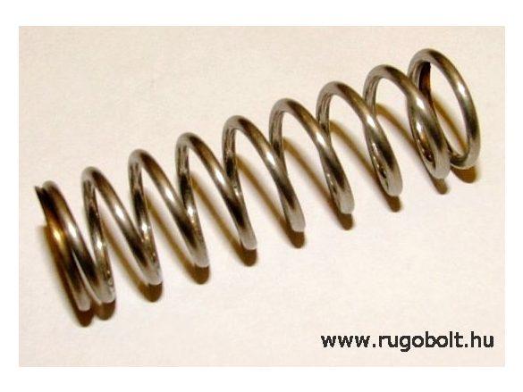 Permetező rugó - 1,5x14x44 mm - menetszám: 1+8+1 - rozsdamentes (inox)