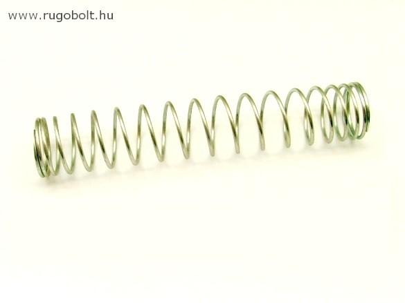 Nyomórugó - 1,5x23x123 mm - menetszám: 1+15+1 - horganyzott