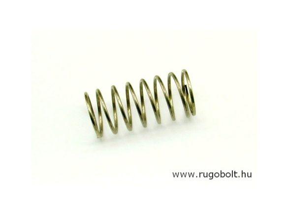 Nyomórugó - 1,6x21,6x45 mm - menetszám: 1+6,5+1 - rozsdamentes (inox)