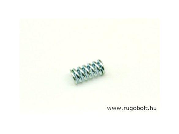 Nyomórugó - 2,0x10x21 mm - menetszám: 1+5+1 - horganyzott