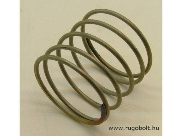 Nyomórugó - 2,2x42x38 mm - menetszám: 1+3,5+1 - rozsdamentes (inox)