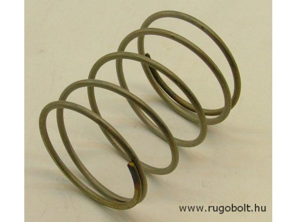 Nyomórugó - 2,2x42x53 mm - menetszám: 1+3,5+1 - rozsdamentes (inox)