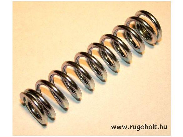 Nyomórugó - 2,5x18x73 mm - menetszám: 1+9+1 - horganyzott