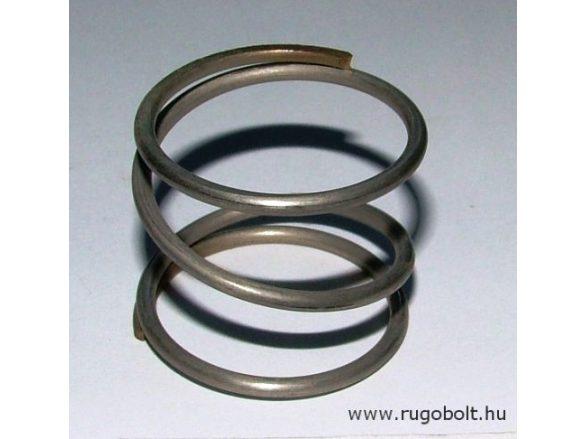 Nyomórugó - 2,5x36x30 mm - menetszám: 1+1,5+1 - rozsdamentes (inox)