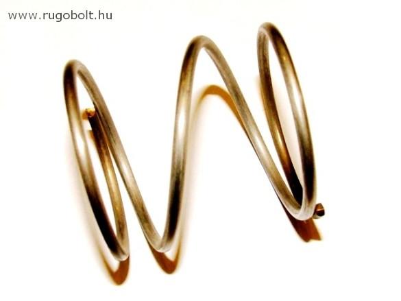 Fűkasza damil adagoló rugó - 2,5x39x41 mm- menetszám: 1+2+1 - natúr
