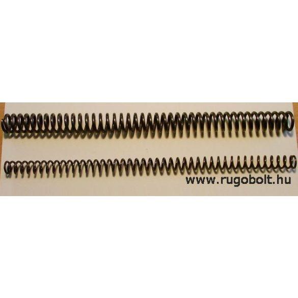 """Légpuska """"magyar"""" főrugó - 3,0x20x280 mm - menetszám: 1+40+1 - natúr"""