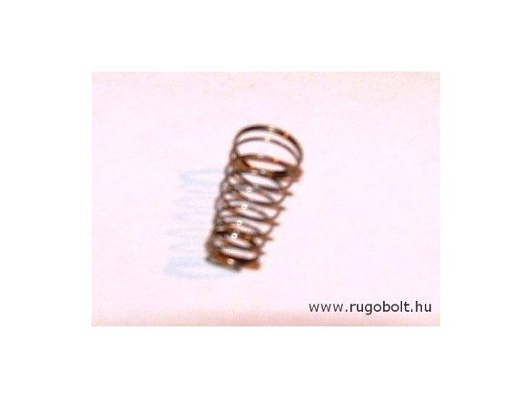 Kúpos nyomórugó - 0,2x4/5x10 mm - menetszám: 1+7+1 - rozsdamentes (inox)