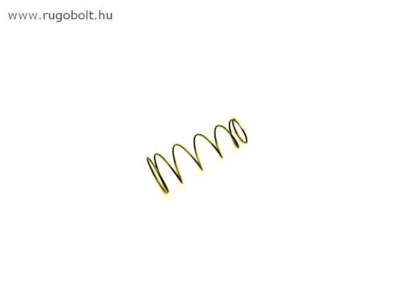 Kúpos nyomórugó - 0,7x11/15x37 mm - menetszám: 1+4,5+1 - rozsdamentes (inox)