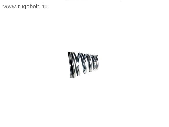 Kúpos nyomórugó - 0,8x12/7x11 mm - menetszám: 1+4,5+1 - natúr