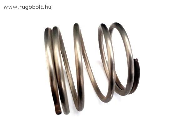 Kúpos nyomórugó - 4,0x52/61x50 mm - menetszám: 1+3+1 - rozsdamentes (inox)