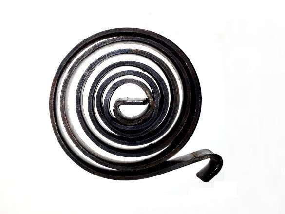 Fúrógép visszahúzó rugó (spirálrugó) - 1,5x60x10 mm - natúr
