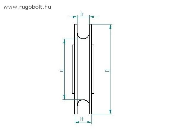 Műanyag csiga - csapágyas - porvédővel - átmérő: 85 mm