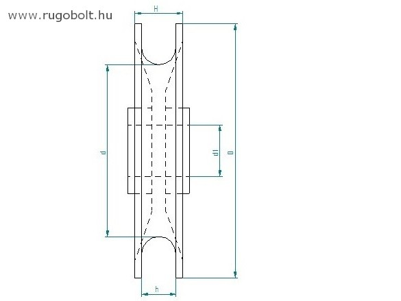 Műanyag csiga - átmérő: 74 mm